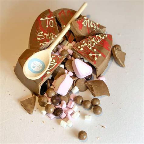 belgian chocolate love smash heart chocolate hearts
