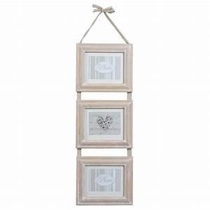 Maison Du Monde Cadre Photo : cadre triple en bois 25 x 82 cm estelle maisons du monde ~ Teatrodelosmanantiales.com Idées de Décoration