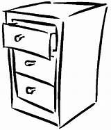 Dresser Pages Furniture Coloring sketch template