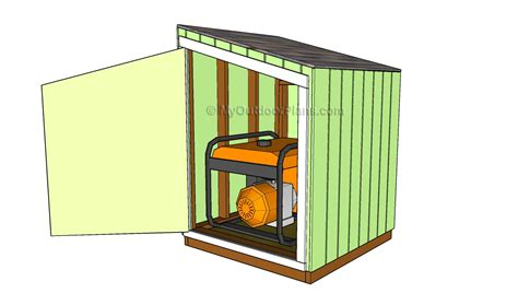 small generator shed plans portable generator enclosure plans myoutdoorplans free