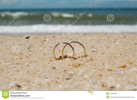 Wedding Rings On A Beach Stock Photo. Image Of Holiday