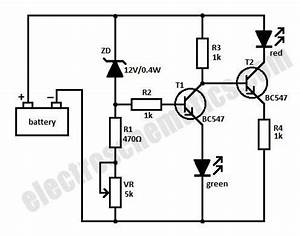 battery level monitor circuit With com electronic circuits lm3914 12v battery monitor circuit