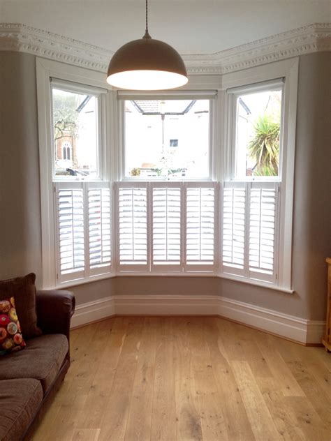 floor l in front of window cafe style shutters on a victorian bay all closed for the home pinterest cafe style