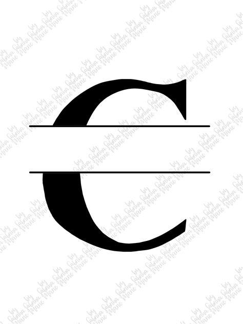 split monogram  svg png  sabrina marie