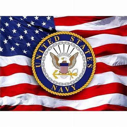 Navy Flag American Crest Magnet Inch Novelty