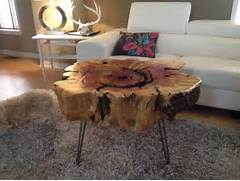 Rustic Meets Contemporary In This Coffee Table Made From A Stump Top Star Katy Perry And Russell Brand Beg Rihanna To Get Therapy And Stop Ellen DeGeneres Show She Always Has A Floral Arrangement On Her Coffee Log Coffee Table Similar To As Seem In Ellen DeGeneres Table Fun