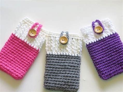 free mobile cover crochet mobile cover patterns upcycle art