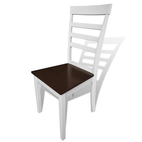 weiße stühle esszimmer der 8 stück braun weiße stabile esszimmer stühle aus holz shop vidaxl de