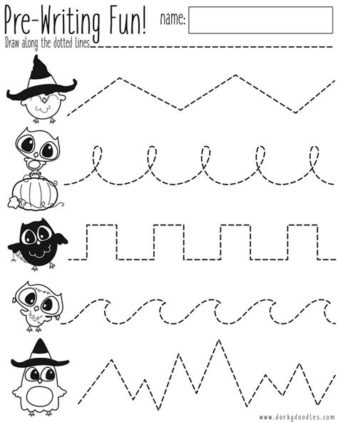 pre writing practice halloween worksheet halloween