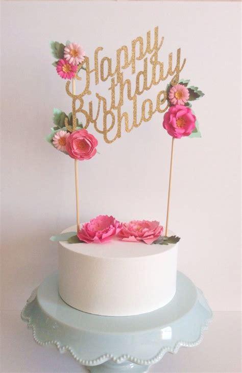 custom wedding or birthday paper cake topper por