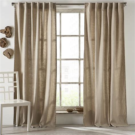 west elm linen curtains nailhead curtains yes spark