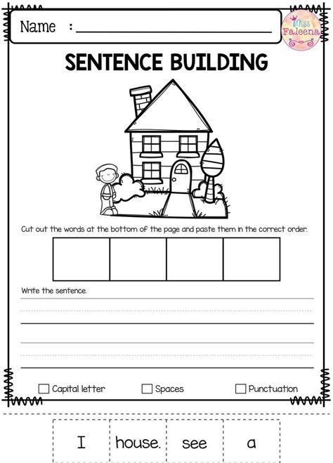 free sentence building miss faleena s store