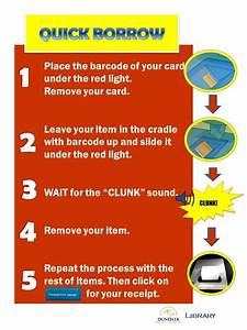 Quick Borrow  Renew  Instructions To Use The Self