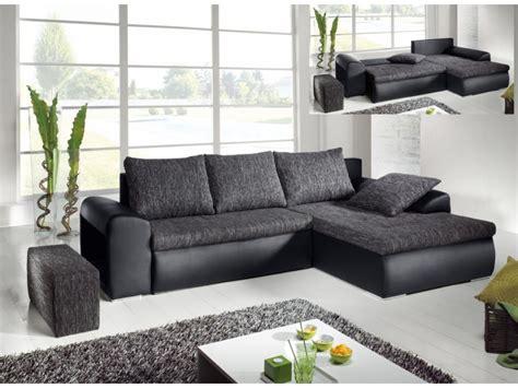 canapé d angle gris et noir canapé d 39 angle convertible 2 coloris mississippi