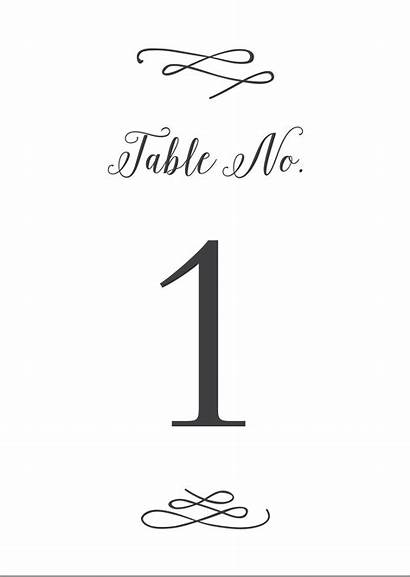Calligraphy Printable Numbers Table Whimsical Pdf Number