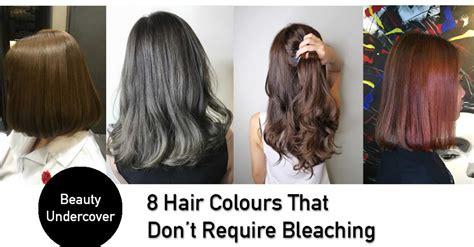 trendy hair colours    require bleaching