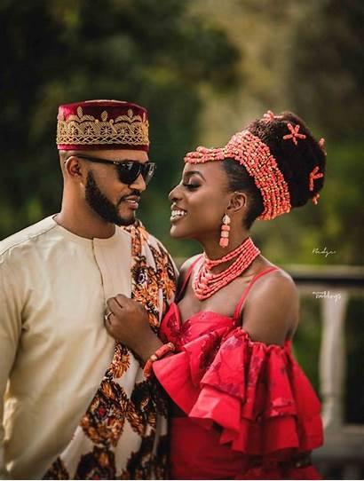 Igbo Traditional Attire Weddings Nigerian African Bride