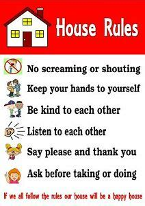 house child behaviour warning chart ideal 269 | s l300