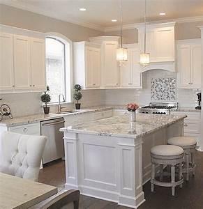 53 pretty white kitchen design ideas kitchen design With kitchen design ideas white cabinets