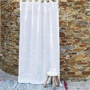 Rideau En Lin Blanc : rideau en lin blanc saint paul de vences ~ Melissatoandfro.com Idées de Décoration