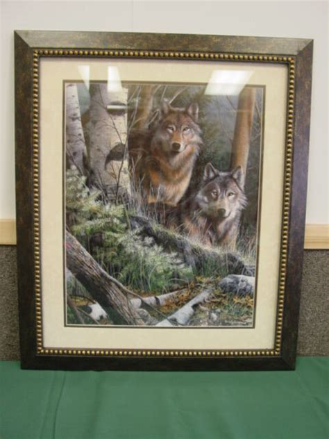 Home Interior Framed by Lone Wolf Wood Framed Print Retired Home Interiors
