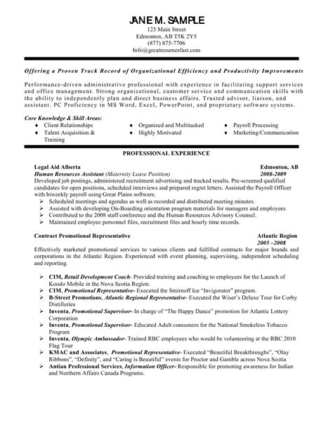 Pca Resume Exle by Human Resources Assistant Resume Free Resume Templates Personal Care Assistant Resume Sles By