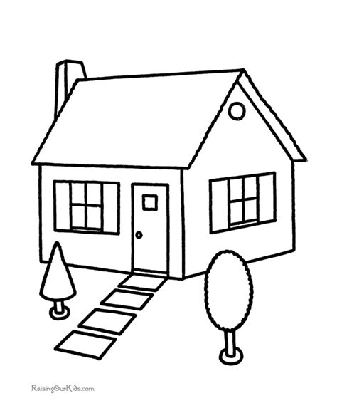house coloring book pages
