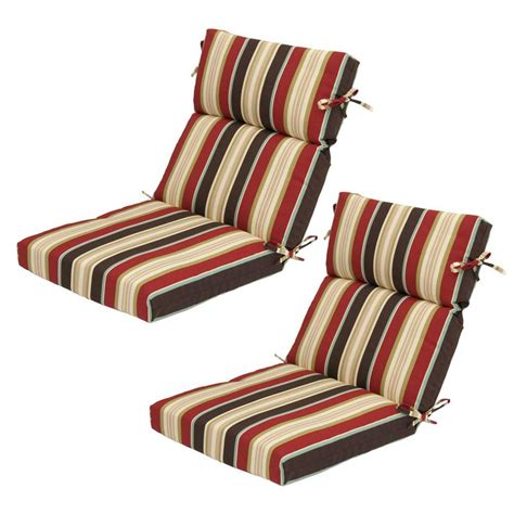 high back patio chair cushions home depot hton bay majestic stripe high back outdoor chair