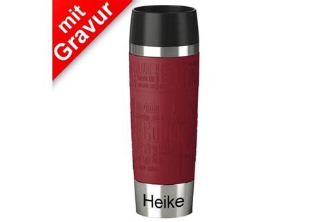 emsa travel mug 500ml emsa isolierbecher travel mug grande manschette rot 500ml mit gravur z b namen