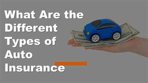 What Are The Different Types Of Auto Insurance