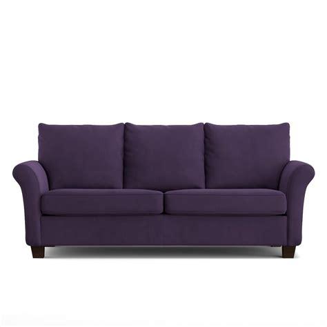 Velvet Purple Sofa by Handy Living Rockford Sofast Sofa In Purple Velvet Rkf Sx