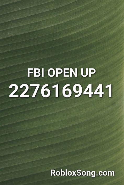 fbi open  roblox id roblox  codes