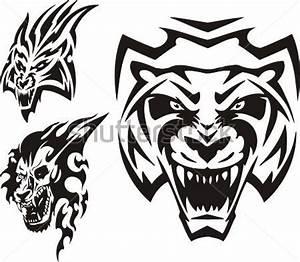 Tigre, Lynx ET Tribales Illustration Vectorielle Est Prête ...