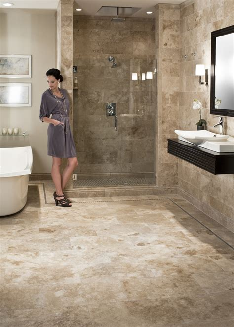 travertine bathroom     middle