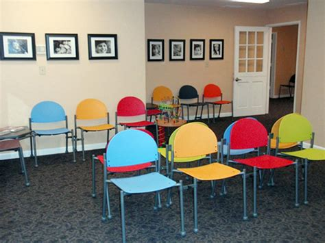 colorful waiting room chairs the color combination on