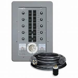 Connecticut Electric U00ae 10 Circuit  30 Amp Manual Transfer