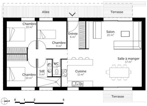 plan maison 90m2 3 chambres plan de maison 3 chambres plan maison plain pied 3