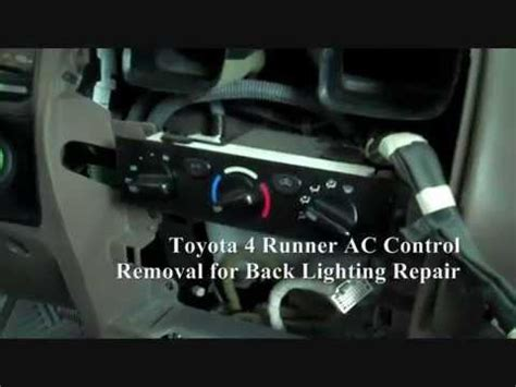 automobile air conditioning repair 2001 toyota 4runner navigation system toyota 4 runner ac control panel removal youtube