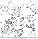 Coloring Pages Camping Scout Boy Clipart Cub Boating Campground Outlined Past Camp Printable Sheets Scouts Clipartscout Visekart Royalty Unique Fishing sketch template