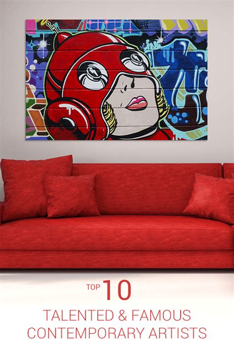 Top 10 Famous Contemporary Artists  Wall Art Prints