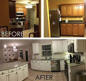 galley kitchen remodel before and after on a budget With how to remodel kitchen cabinets yourself