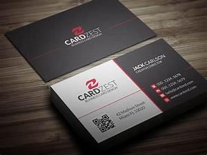 modern contemporary business card template cardzest With contemporary business card design