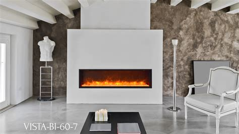 sierra flame electric fireplace vista slim series bi