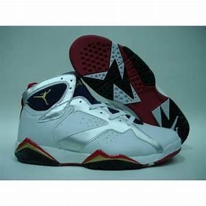 Air Jordan Retro 7 Olympic White Metallic Gold Midnight