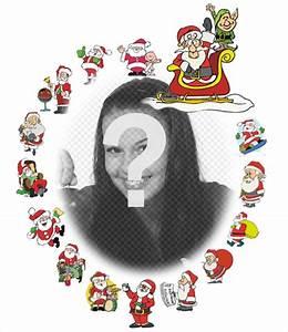 Weihnachtsmann Als Profilbild : sch ne rahmen mit verschiedenen weihnachtsmann fotos ~ Haus.voiturepedia.club Haus und Dekorationen