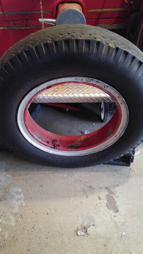 wheel rim   mack  type  fire truck