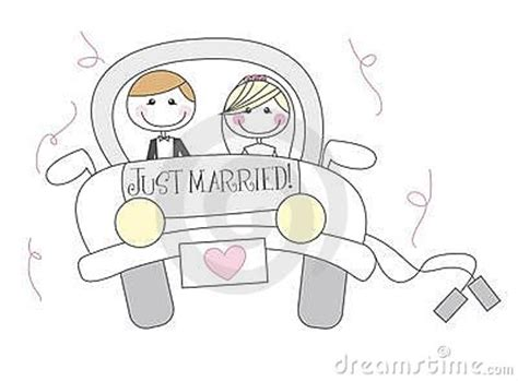 married cartoon stock photo image