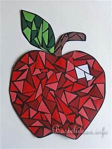 Mosaik Basteln Mit Kindern : mosaik apfel kunstwerk e ~ Lizthompson.info Haus und Dekorationen