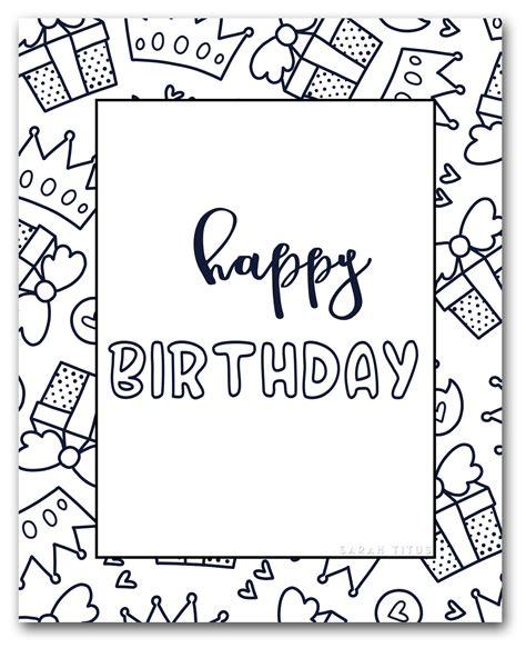 printable happy birthday coloring sheets sarah titus