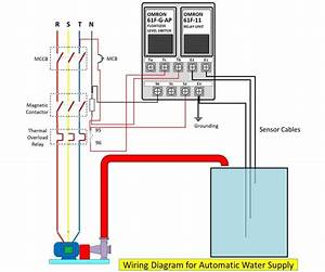Wiring Diagram For Automatic Water Pump Using Floatless